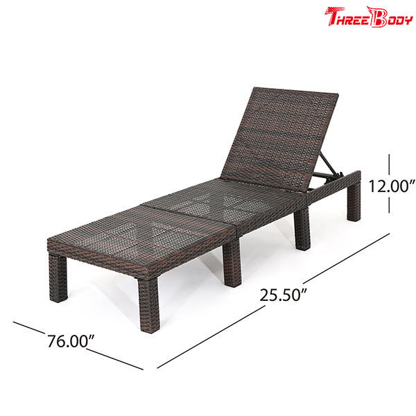 Polyethylene Wicker Outdoor Patio Lounge Chairs Without Cushion 76.60 * 25.50 * 12.00 Inches
