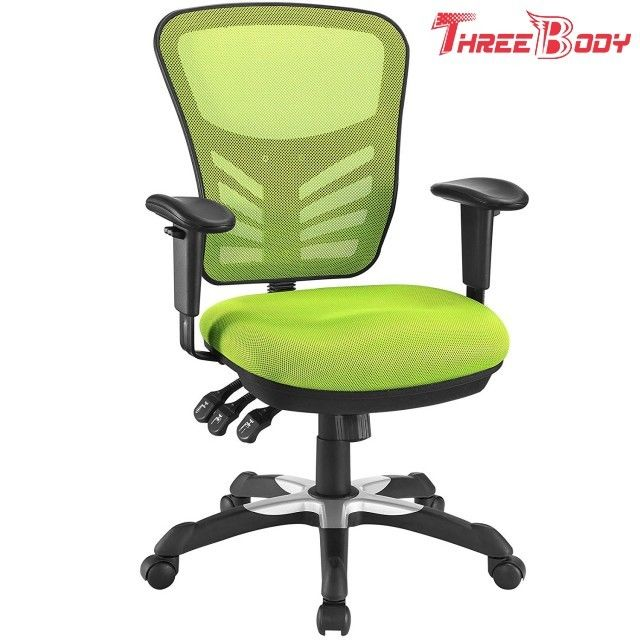Green Ergonomic Mesh Office Chair , Computer Gaming Mesh Back Office Chair