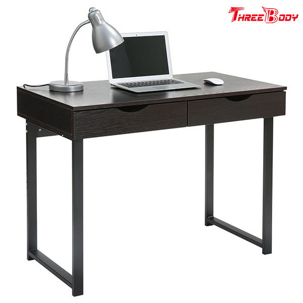 Black Modern Office Table Writing Desk With Drawers Study Home Office Furniture